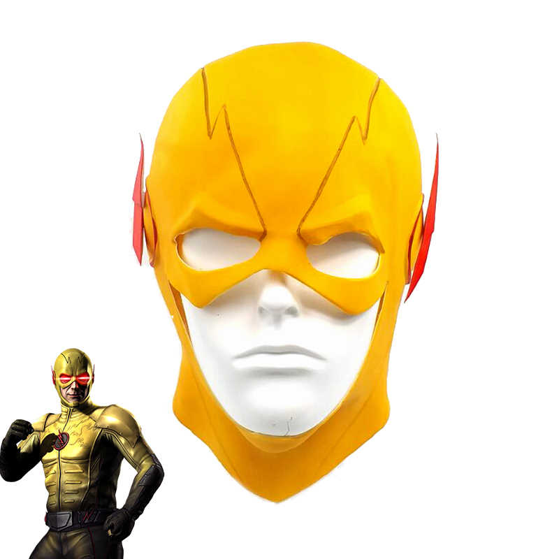 De Flash Reverse-Flash Harrison Latex Masker Helm Cosplay Prop