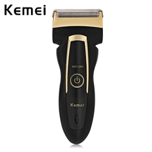 KM - 858 Reciprocating Electric Travel Use Safe Shaver for Men Rechargeable cordless use 3D double floating head цена и фото