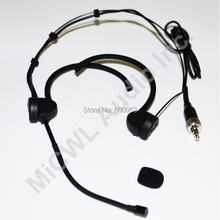 Foldable Microphone Head Wearing Headset Mic For Sennheiser XS EW100 300 500 G2 G3 G3 Wireless Mike BodyPack Transmitter complexion foldable double ear wearing headset condenser microphone mic for shure sennheiser wireless body pack transmitter