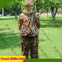 Desert Field Combat Hunting Camouflage Ghillie Uniform Set Army Fans Outdoor CS Shooting Training Military Sniper Hiding Suit