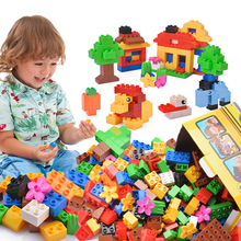 Big Size DIY Building Blocks Swing Dinosaurs Figures Animal Accessories Toys For Children City Brick Toy loz diamond blocks courier bear kids assembly toy for children oyuncaklar building brick action figures diy designer animal 9749