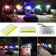 24 В COB светодиодный светильник для грузовика, боковая сигнальная лампа, Поворотный Светильник для грузовика s 5 Вт, водонепроницаемый светодиодный Предупреждение льный светильник для грузовика, ночной Светильник