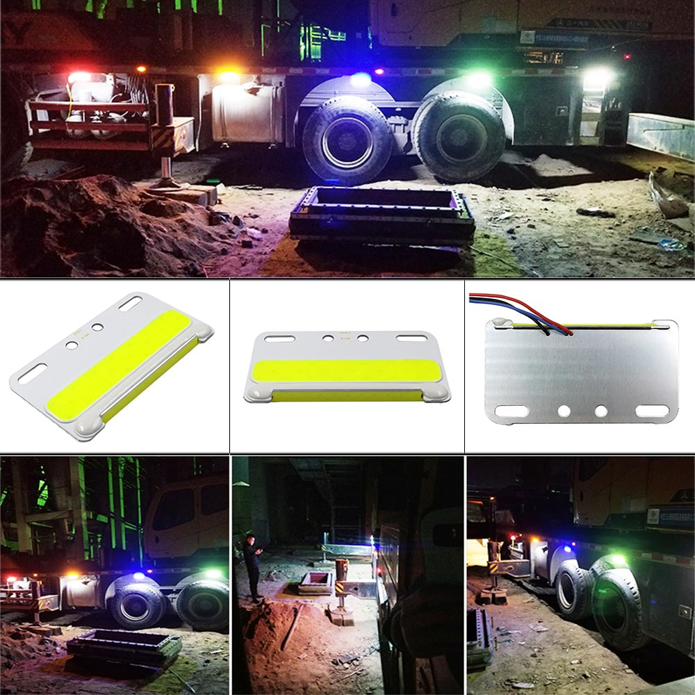 24V COB LED Light For Truck Side Signal Lamp Lorry Turning Lights 5W Waterproof LED Truck Warning Bulb Night Runing Lighting
