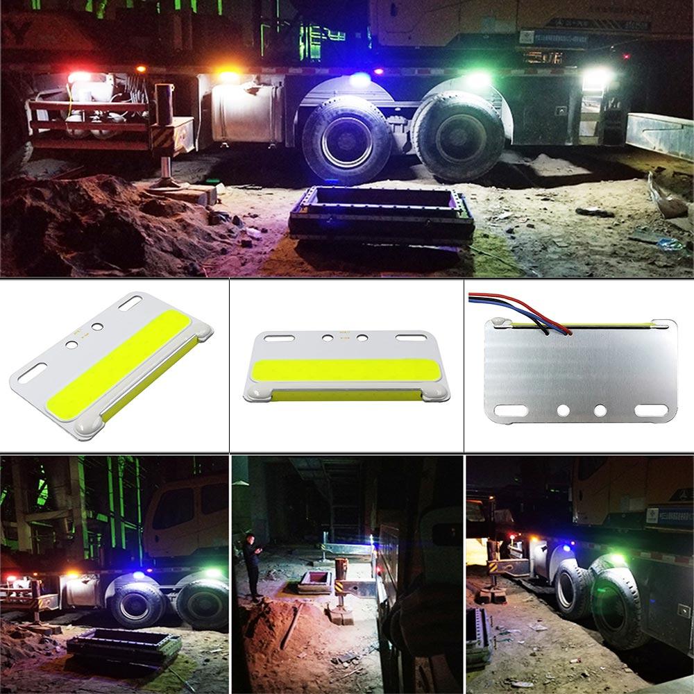 24V COB LED Light For Truck Side Signal Lamp Lorry Turning Lights 5W Waterproof LED Truck Warning Bulb Night Runing Lighting