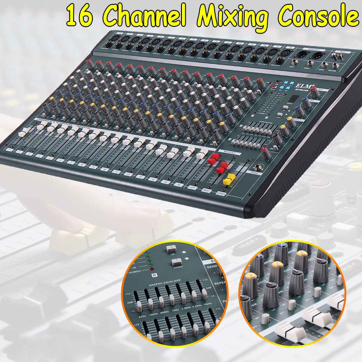 buy 16 channel professional audio mixer console digital connect with mixer. Black Bedroom Furniture Sets. Home Design Ideas