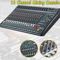 16 Channel Professional Audio Mixer Console Digital Mixer Power Amplifier with USB DJ Sound Mixing Console for Stage Party