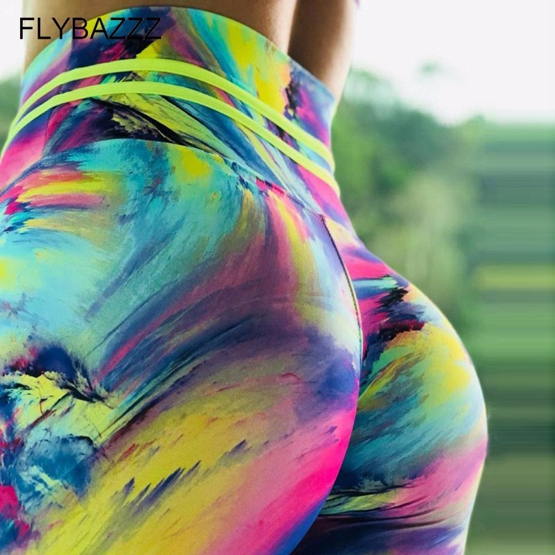 Leggings with Colour Splashes