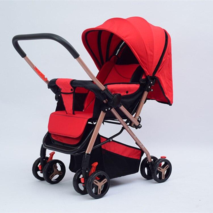 Bébé poussette léger-siège pliant inclinable bébé nouveau-né enfant main pousser parapluie bidirectionnel mise en œuvre bébé landau