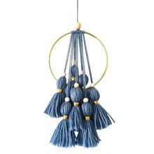 Kids Room Nordic Style Wooden Beads Dream Catcher Wind Chime Pendant Indian Same Children's House Decoration Hanging Ornaments
