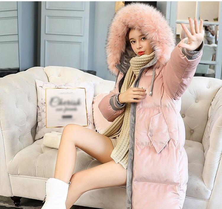 Parka Éclair gris rose Femmes Hiver Style Streetwear Noir Manteau À Veste Mode Capuche Fourrure Décontracté De Fermeture Longue Bf Femme Noir 4vwwq0HpB