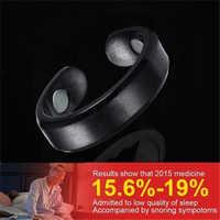 Magnetische Therapie Anti Schnarchen Ring Titan Legierung Behandlung Reflexzonenmassage Snore Stopper Schlafapnoe Schlaf Gerät Förderung Preis
