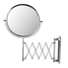 Professional Folding Double Side Vanity Makeup Mirror 3X Magnifying Bathroom Shaving Cosmetic Wall Mount Mirrors недорого