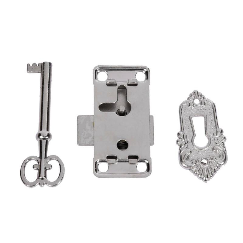 Wardrobe Cupboard Drawer Cabinet Door Lock and Key 50MM with Screws Tools