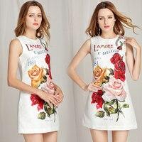 Vestidos corto verano apliques y estampado floral