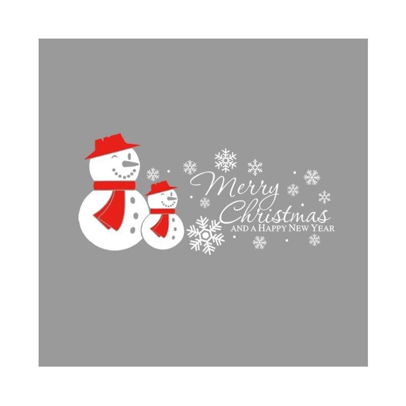 ПВХ Водонепроницаемый Рождественские лоси наклейки стены дома Гостиная Windows декоративные съемные наклейки 5 стилей елочные украшения