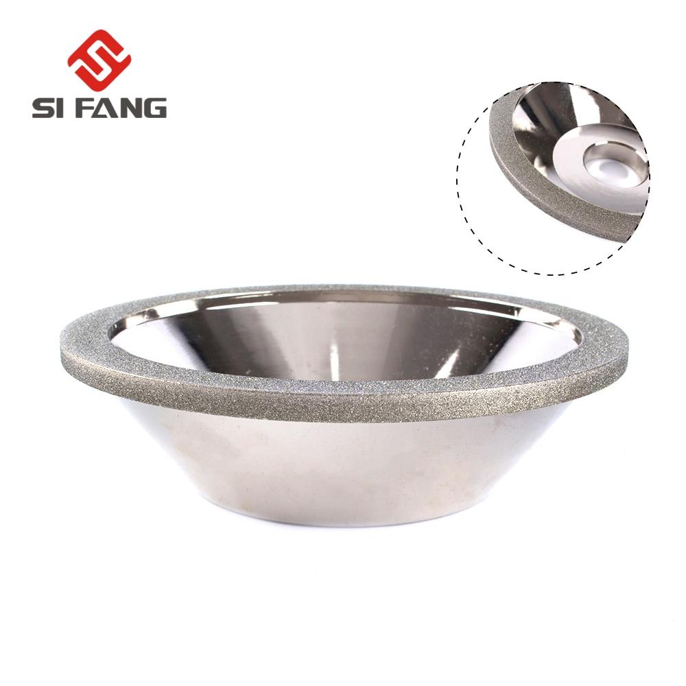 Electroplate Cup Bowl Shape Diamond Grinding Wheel  Grit 80 Grinder Silver