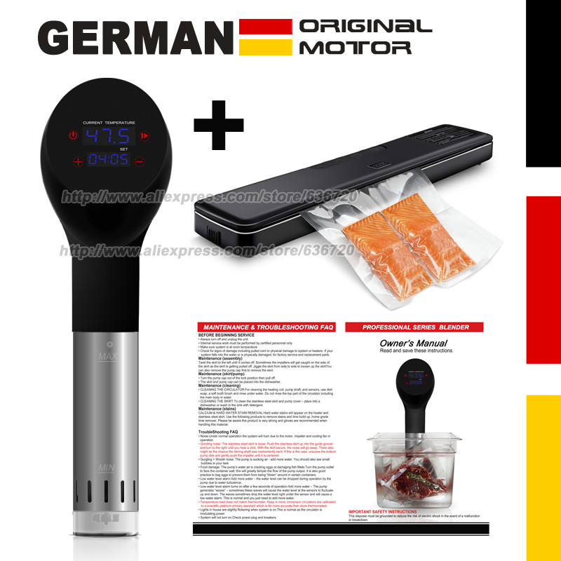 German original motor technology accurate vacuum cook Food sous vide cooking machine cooker and Vacuum Air
