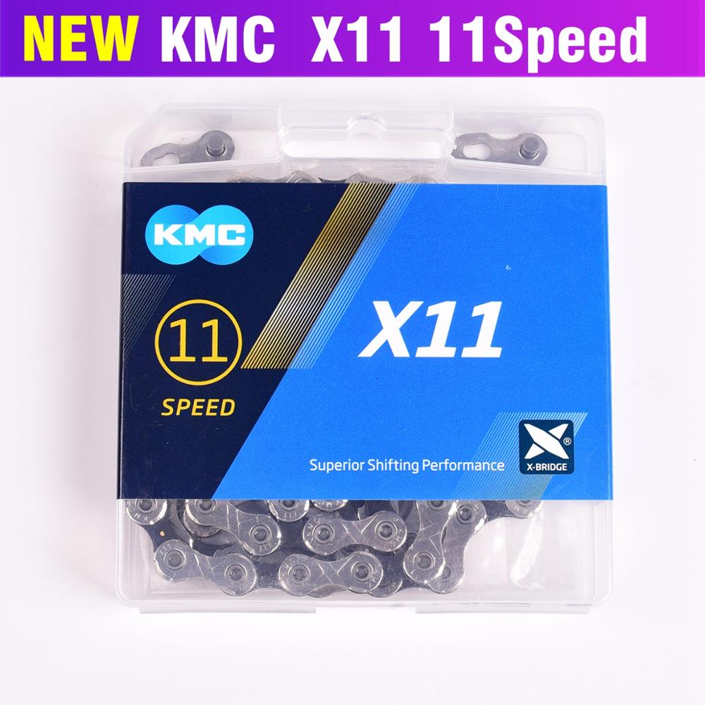 """KMC X11 .93 1//2 x 11//128"""" Road or MTB Chain 11 Speed SILVER//BLK"""
