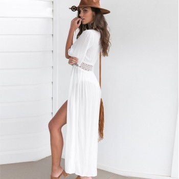 Crochet-Trimmed Swim Cover-Up 1