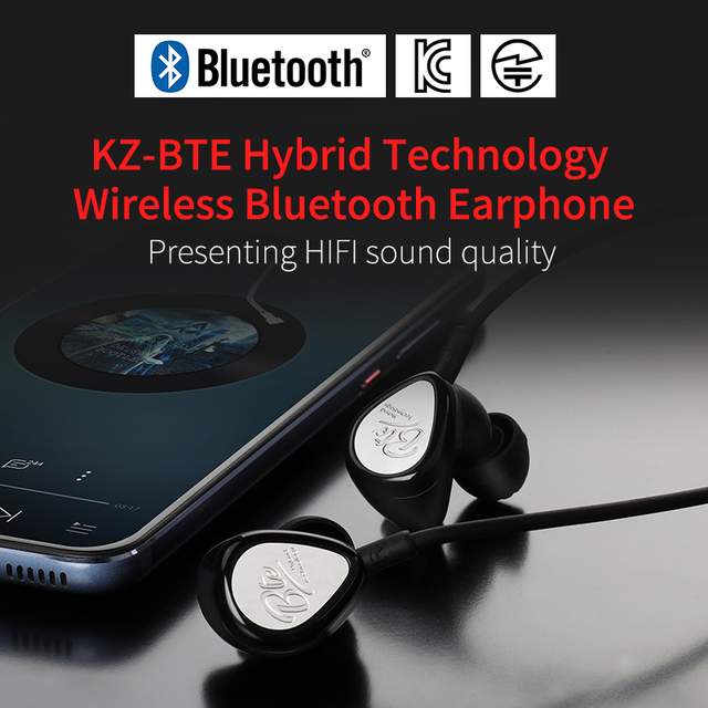 Kz Bte 1dd + 1ba Headset Bluetooth Wireless Headset Headphones / Aptx Sports Hifi Bass Headphones For Phones And Music