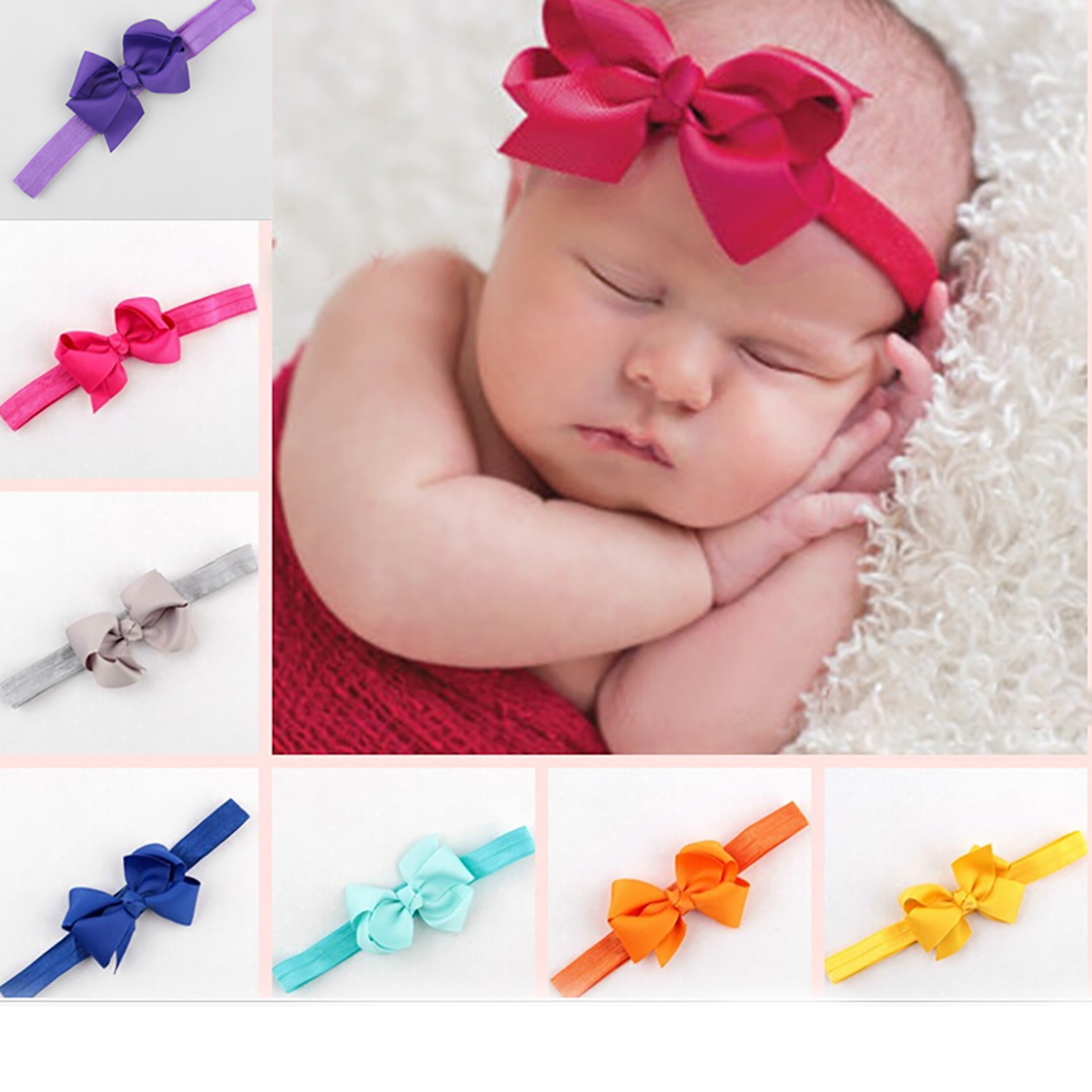 Headwrap Baby Headbands Headwear Girls Bow Knot Hairband Head Band Infant Newborn Toddlers Gift Tiara Hair Accessories