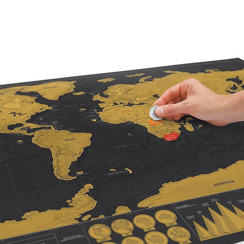 Vintage World Maps With Tube 42*30CM Creative Scratch Maps For Kids Gift DIY Decoration School Office Supplies Korean Stationery