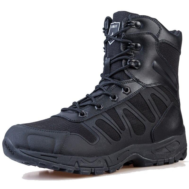 Ultra-léger 07 entraînement tactique haut Tube bottes imperméables en plein air hommes Camping randonnée Trekking antidérapant résistant à l'usure chaussures