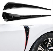 цена на Car Front Fender Side Air Vent Cover Trim Car-styling For BMW f30 f10 134567 series e90 e46 Shark Gills Side Vent Sticker