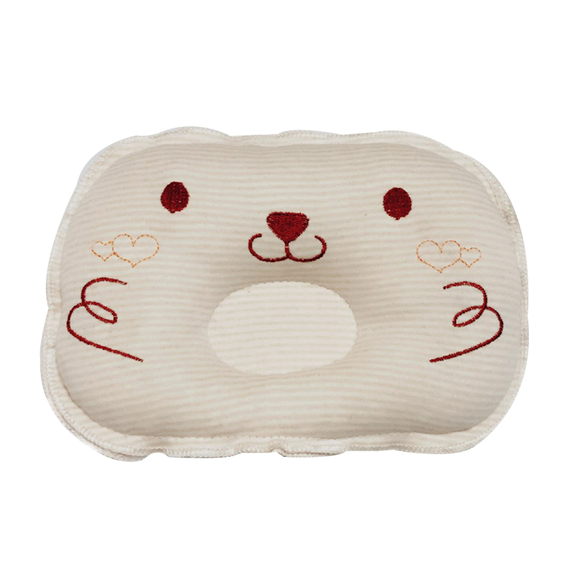 Inventive Anti-roll Pad Flat Headrest Washable New Design Soft Colored Cotton Embroidery Child Sleep Locator Baby Bear Shaping Pillow A Complete Range Of Specifications Back To Search Resultsmother & Kids Pillow