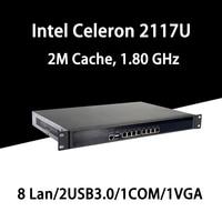 Firewall Mikrotik Pfsense VPN Network Security Appliance Router PC Intel Celeron 2117U,[HUNSN RS08],(6LAN/2USB3.0/1COM/1VGA)