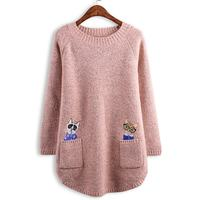 2019 Women Sweater Ladies Spring Long Sleeve Pullovers Cute Cartoon Cat Pull Femme Hiver Jumpers Christmas Knitted Sweaters 5XL