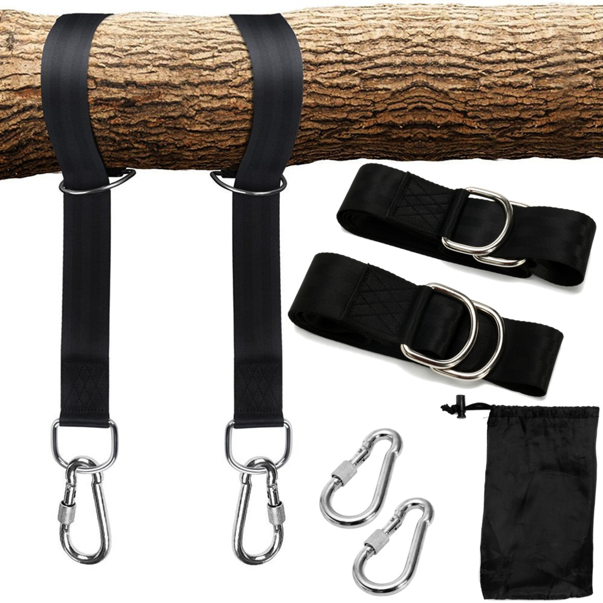 350KG Load Tree Swing Hanging Kit 2Pcs Hammock Straps 150x5cm Extra Long Capacity Outdoor Camping Hiking Hammock Hanging Belt350KG Load Tree Swing Hanging Kit 2Pcs Hammock Straps 150x5cm Extra Long Capacity Outdoor Camping Hiking Hammock Hanging Belt