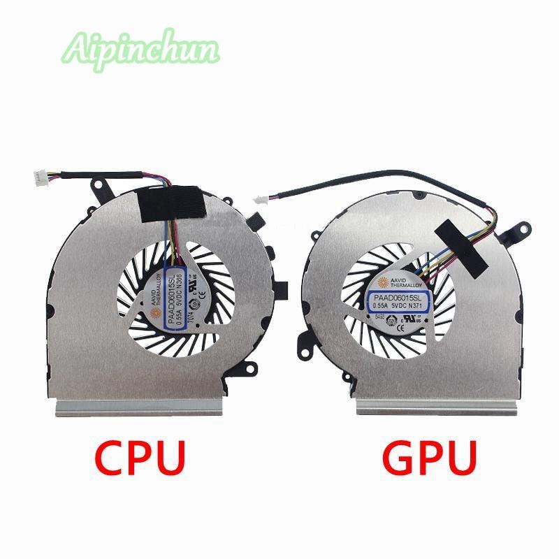 New Original For MSI GE62VR GP62MVR GL62M Laptop Notebook CPU GPU Cooling Cooler Fan PAAD06015SL N366 N371 4PinsNew Original For MSI GE62VR GP62MVR GL62M Laptop Notebook CPU GPU Cooling Cooler Fan PAAD06015SL N366 N371 4Pins