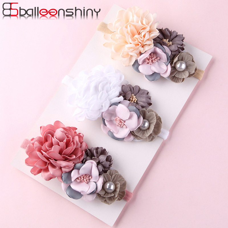 BalleenShiny Artificial Flower Headband Newborn Baby Girls Fashion Princess Sweet Headdress Child Kids Cute Elastic   Headwear
