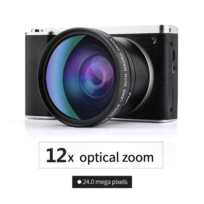 12X Zoom optique HD 1080 P 4.0 pouces écran 24MP numérique DSLR caméra enregistreur vidéo DVR caméscope