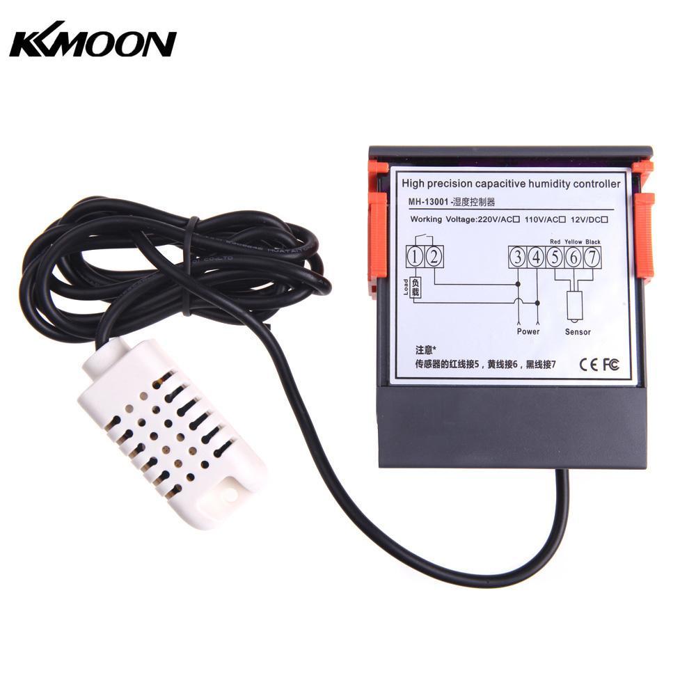 10a 220 V Mini Digital Thermostat Hygromstat Luft Temperatur Controller Messbereich 1%-99% Mit Sensor Werkzeuge