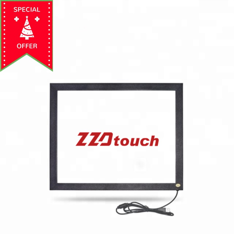 ZZDtouch 27 inch IR touch frame 2 points infrared touch screen panel multi touchscreen overlay for monitor pc