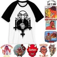 Новое поступление Для мужчин сатаны футболка демон смерть страшно зло в стиле «хип-хоп» сатанизма Мрачный Жнец зла футболка Веселая Футбол...