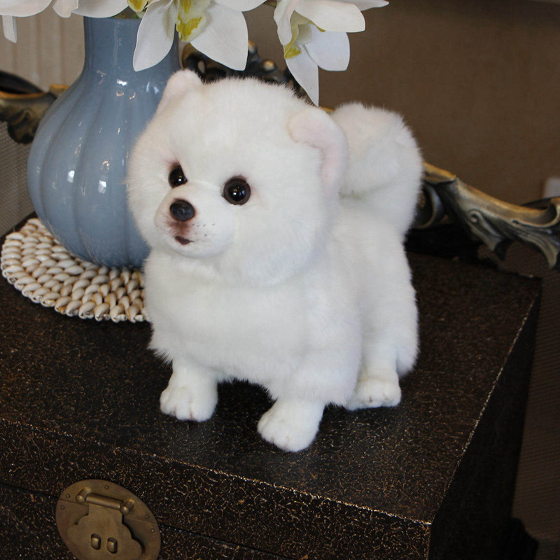 Cute Plush Toy White Bichon Frise Puppy