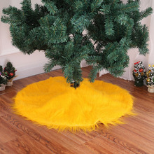 Gold Christmas Tree Skirt 78CM Plush High-grade for Decoration Decorations Supplies Home 2018