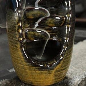 Image 5 - Fumo Riflusso Bruciatore di Incenso di Ceramica Forno Aromaterapia Cono di Incenso Incenso Cascata Fiume di Montagna Artigianato Possessore di Incenso