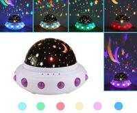 LED Rotating Music Star Starry Projector UFO Home, Bedroom, etc Moon, Lamp Night Light DC 5V Music, Flash