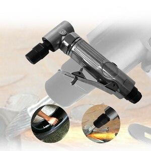 """Image 1 - 1/4 """"Angle dair meurent la rectifieuse pneumatique de 90 degrés coupent des outils de gravure de moulin de polisseur réglés avec la clé"""