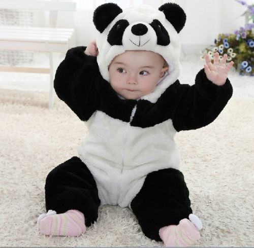 2019 New Toddler Infant Newborn Baby Boy Girl Cute Animal Costume One Piece Climbing Pajamas Panda   Romper   Jumpsuit Coverall
