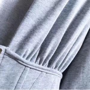 Image 5 - TWOTWINSTYLE Spring Sweatshirts For Womens Hoodies Long Sleeve V Neck High Waist Slim Sweatshirt Tops Female Fashion New 2020