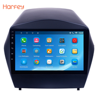 Harfey Android 6.0/7.1/8.1 9 2Din GPS Car Radio For 2009 2010 2011 2012 2013 2014 2015 Hyundai IX35 3G Wifi Multimedia Player