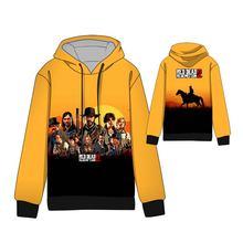 Hot  Cosplay Red Dead: Redemption Hoodies Standard Hooded Winter Tops Unisex Dead 2 funny Sweatshirts