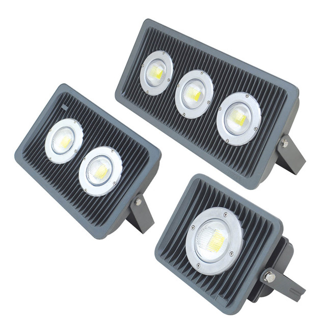Competitive price Die casting Aluminium Cob Led floodlight Outdoor IP65 AC85-265V 40w 50w 80w 100W 120w outdoor led flood light