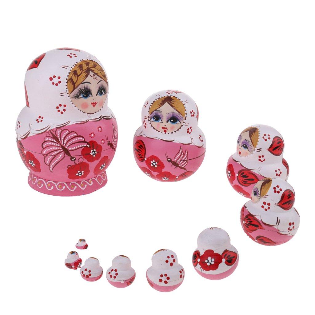 Puppen & Zubehör 8 Teile satz Rote Mädchen Holz Russische Nesting Dolls Babuschka