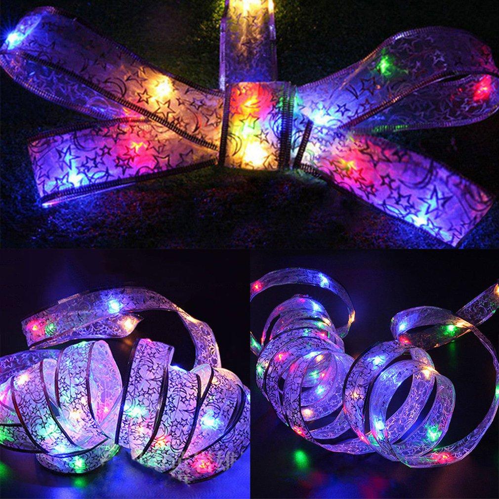 LED Colorful BowKnot Light String 40 Heads Ribbon Light Holiday Fairy Lights Christmas Lights Waterproof Sunproof Decor